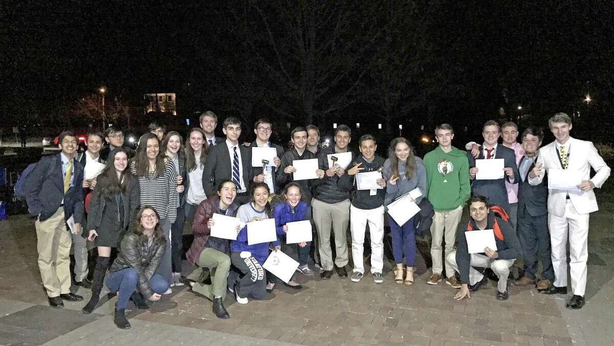 The Greenwich High School Model United Nations team collected many awards at the Washington Area Model United Nations Conference held March 2-5, 2017 in Washington D.C.
