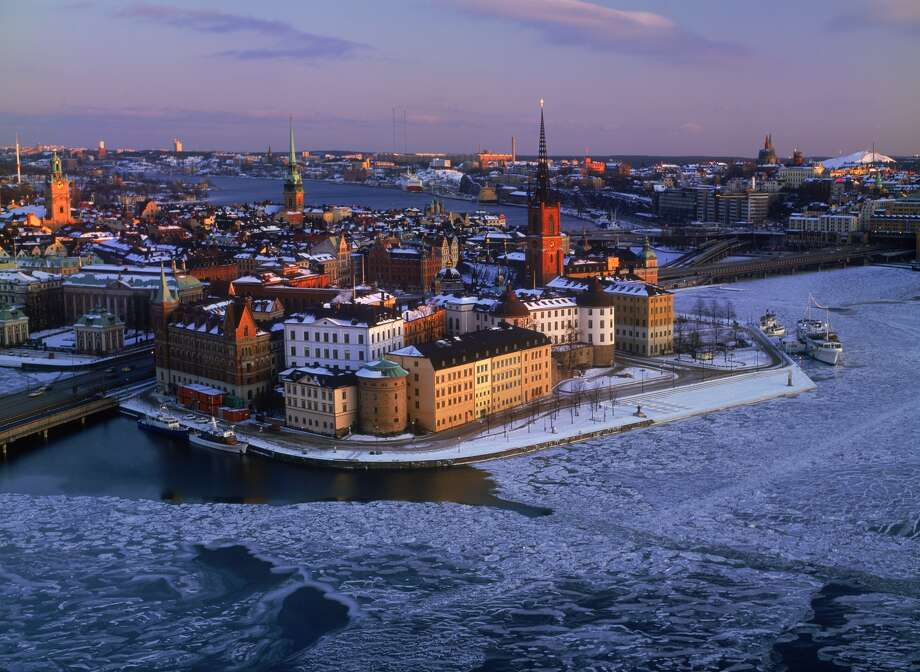 Stockholm city skyline Sweden.