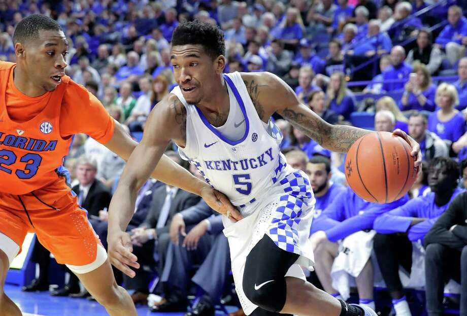 LEXINGTON, KY - FEBRUARY 25:  Malik Monk #5 of the Kentucky Wildcats dribbles the ball during the game against the  Florida Gators at Rupp Arena on February 25, 2017 in Lexington, Kentucky.  (Photo by Andy Lyons/Getty Images) Photo: Andy Lyons, Staff / 2017 Getty Images
