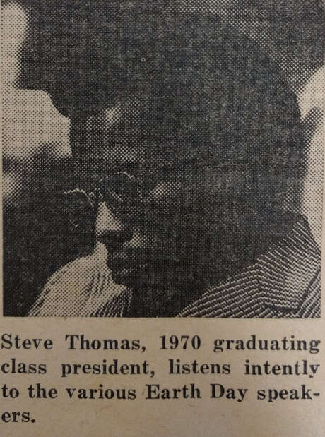 Steve Thomas was the first African-American senior class president at STJC. Photo: Melissa Torres
