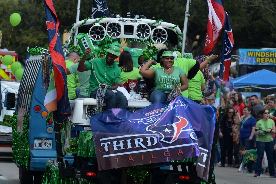 Beads and candy were flying and aplenty during the 37th Annual St. Patrick's Day Parade on FM 1960 between Champions Forest Drive and Kuykendahl Road in Spring on March 15. Photo: Jerry Baker, Freelance