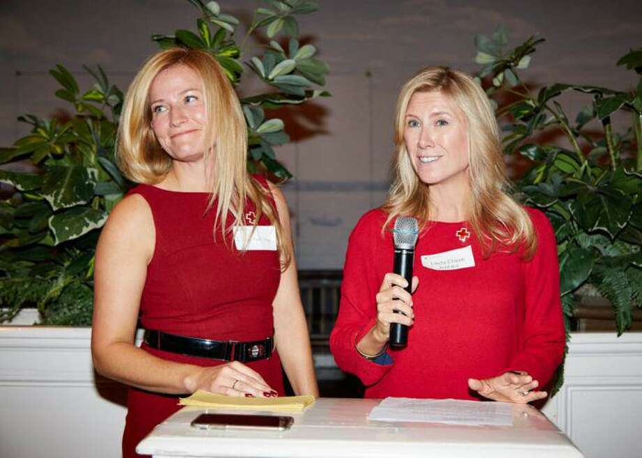 From left, Ilona Kaali-Nagy and Linda Chase-Jenkins, the two-co-chairs of the Red and White Ball, both of whom are Greenwich residents. Photo: Contributed