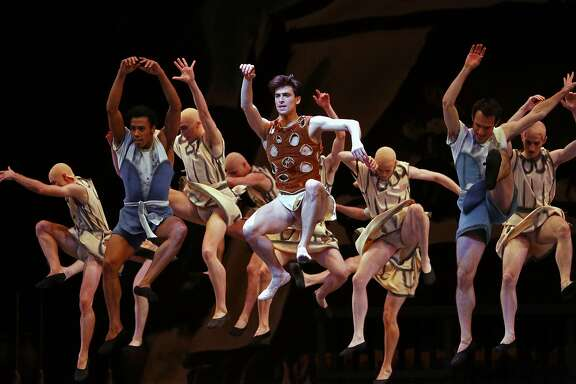 Joseph Walsh as the Prodigal Son, San Francisco Ballet's Program 4 for All Balanchine Program during dress rehearsals on Tues. March 7, 2017, in San Francisco, Ca., at the War Memorial Opera House.
