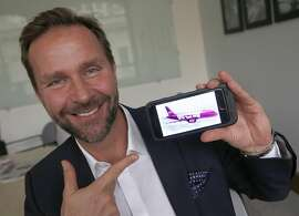 Skuli Mogensen, CEO of WOW air, is launching service from SFO to Iceland and European countries by around summer 2016 in San Francisco, California, as he talks about his airline on Monday,  January 11, 2015.
