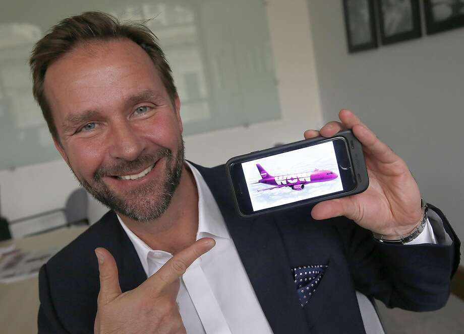 Skuli Mogensen, CEO of WOW air, is launching service from SFO to Iceland and European countries by around summer 2016 in San Francisco, California, as he talks about his airline on Monday,  January 11, 2015. Photo: Liz Hafalia, The Chronicle
