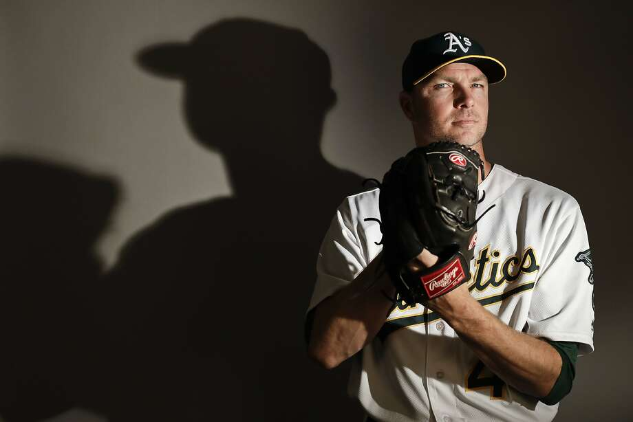 This is a 2017 photo of relief pitcher Ryan Madson of the Oakland Athletics baseball team poses for a portrait. This image reflects the Athletics active roster as of Wednesday, Feb. 22, 2017, when this image was taken. (AP Photo/Chris Carlson) Photo: Chris Carlson, Associated Press
