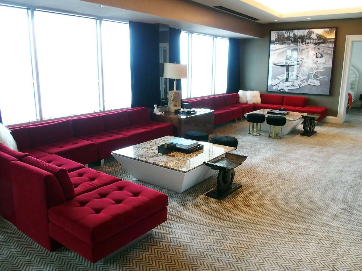 The Lenny Kravitz-designed Extreme WOW Suite at the newly opened W Las Vegas. The suite is near where the suite was that the Beatles used when they played in Las Vegas in 1964, back when the hotel was the Sahara.