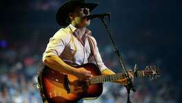 Aaron Watson performs in concert at the Houston Livestock Show and Rodeo, at NRG Park, March 7, 2017, in Houston.