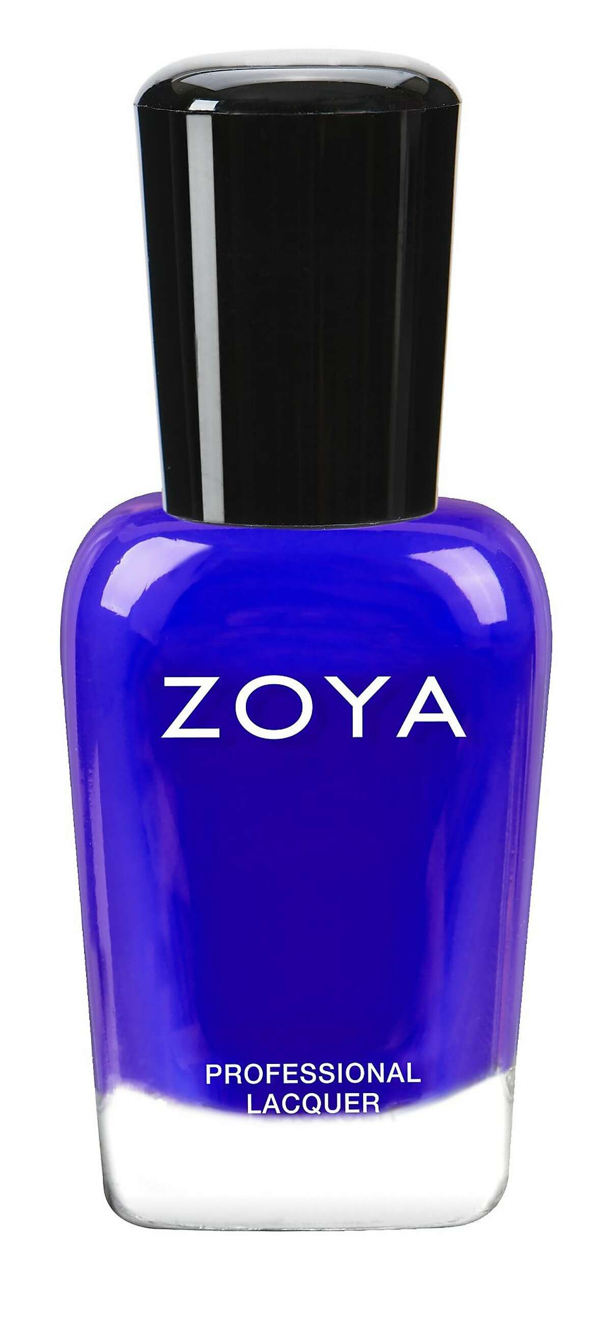 Bright blue was the statement color of the season, manifesting in saturated cobalt eyeshadow at Anna Sui and floating geometric cat-eyes in cyan at Prabal Gurung. Go for a subtler version of this trend by painting your fingertips the navy neon Zoya Mirajane, seen at Mara Hoffman. $10, www.zoya.com.