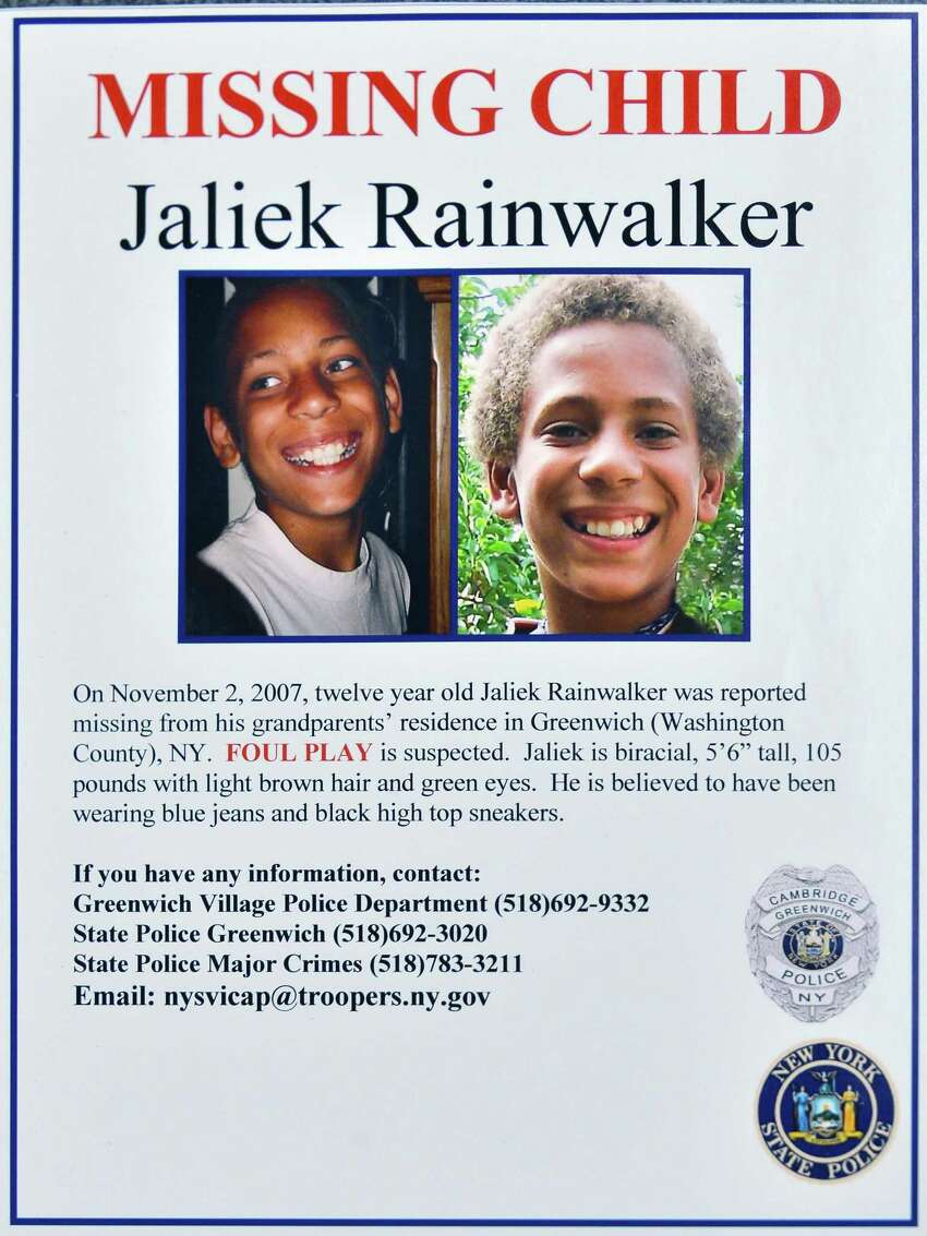 Click through for a series of unsolved cases in the Capital Region. Jaliek Rainwalker was 12 when he vanished from his adoptive parents' Washington County home in November 2007. Police believe foul play was involved but no one was ever charged in his disappearance. (John Carl D'Annibale / Times Union archive)