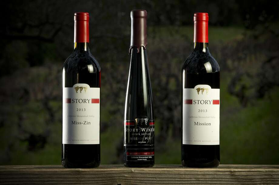 Story Winery's Mission Zin, Mission Port and Mission Wine. Photo: Carlos Avila Gonzalez, The Chronicle