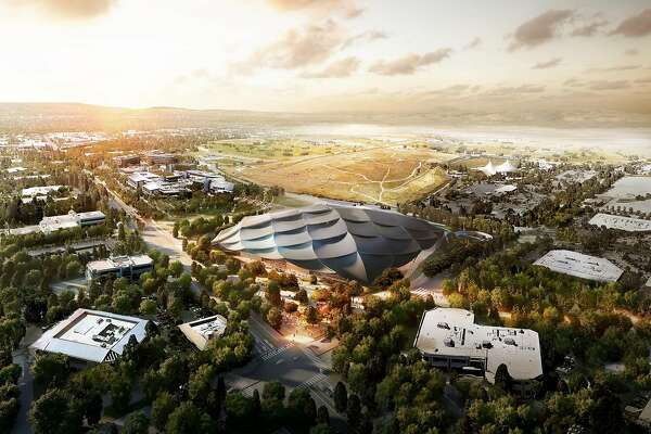 Renderings of Google's Charleston East campus.
