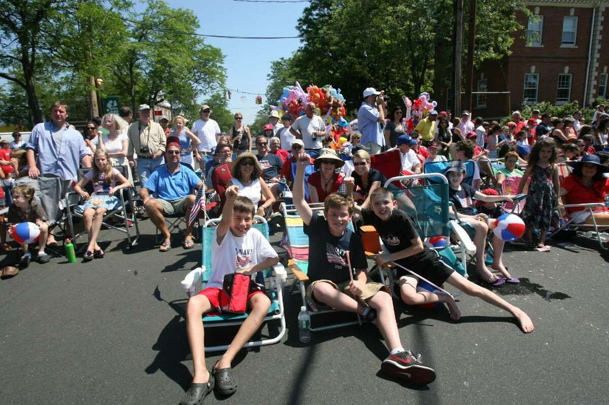 The Fairfield Memorial Day parade marches through downtown on Monday, May 31, 2010.