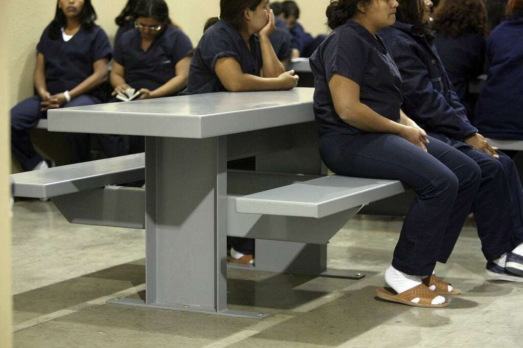 Immigrant female detainees inside their holding cell of the new Willacy County Immigration Detention Center in & Defunct u0027tent cityu0027 prison to reopen 2 years after prisoner riot ...