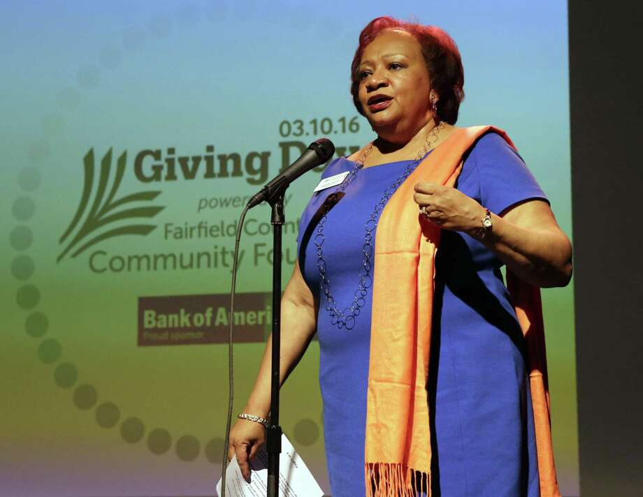 Juanita James, president and CEO of Fairfield County's Community Foundation, during 2016's Giving Day, which raised more than $1.24 million for hundreds of organizations. Sponsors, organizers and participants are hoping to surpass that goal in Thursday's event. Photo: Contributed Photo / Contributed Photo / Sandro Art & Photography LLC