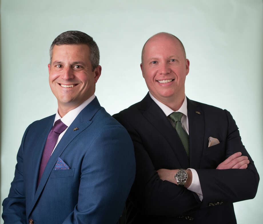 Frank Grasso, CRNA, left, and Kyle Griffith, CRNA, SIUE alumni and co-owners of G & G Anesthesia, LLC.
