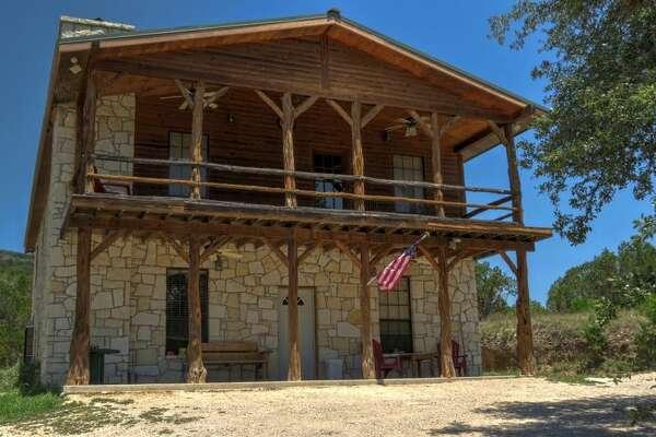 """""""Rancho Real"""" in Leakey Average rate: $288/night Sleeps: 12 3 bedrooms; 3 full, 1 half bathrooms."""