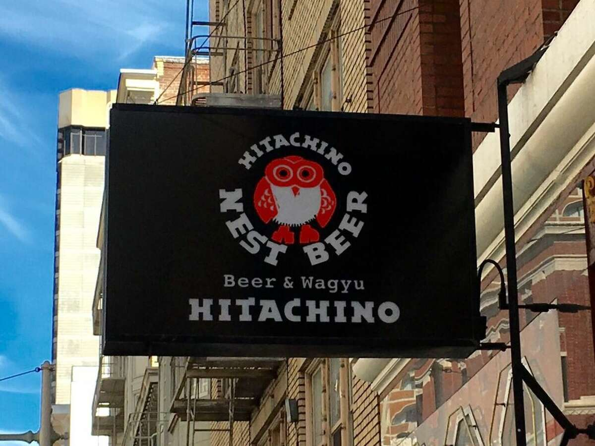 The sign outside Hitachino & Wagyu on Post Street. Photo: Kevin Y./Yelp