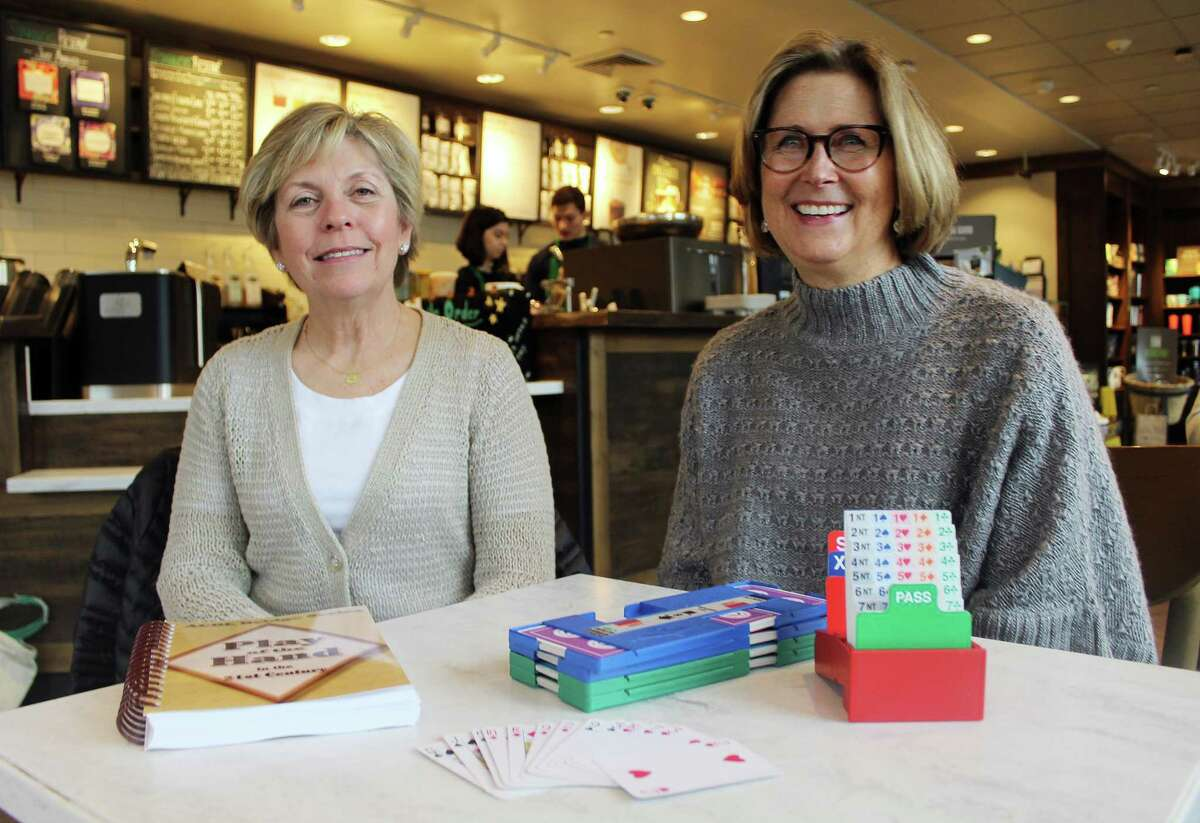 Joan Bergen, left, and Meredith Dunne in Darien on March 1.