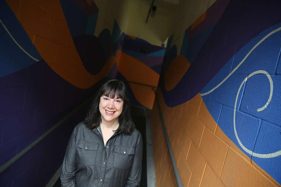 """Playwright Lisa Loomer talks about her new play, """"Roe,"""" at the Berkeley Repertory Theater. Photo: Liz Hafalia, The Chronicle"""