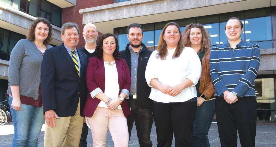 Madison Historical team members include, from left: Jessica Mills, Dr. Stephen Hansen, Dr. Jason Stacy, Nichol Allen, Dr. Jeffrey Manuel, Angela Little, Lesley Thompson-Sasso and Ben Ostermeier. Photo: For The Intelligencer