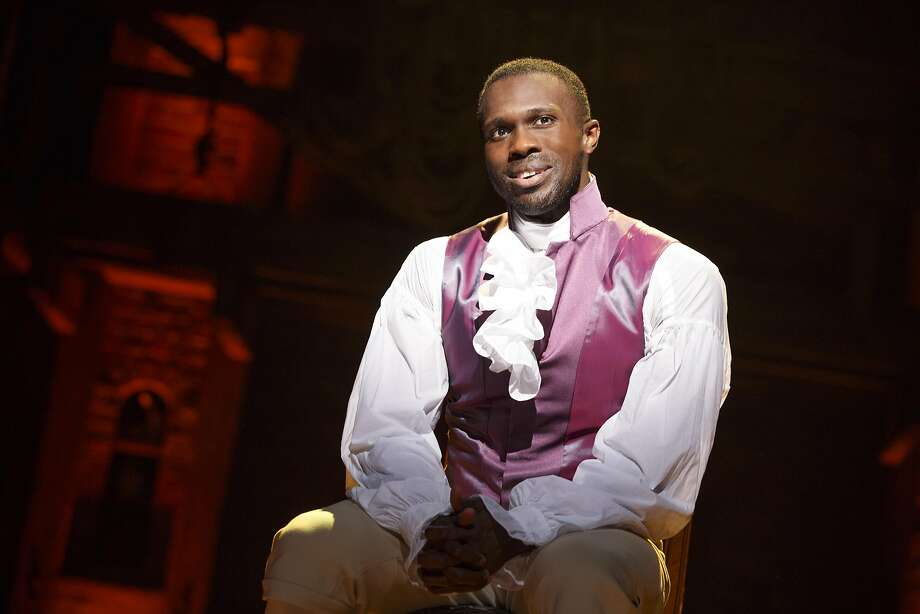 "Joshua Henry plays Aaron Burr in the SHN presentation of ""Hamilton"" at the Orpheum Theatre. Photo: Joan Marcus, SHN"