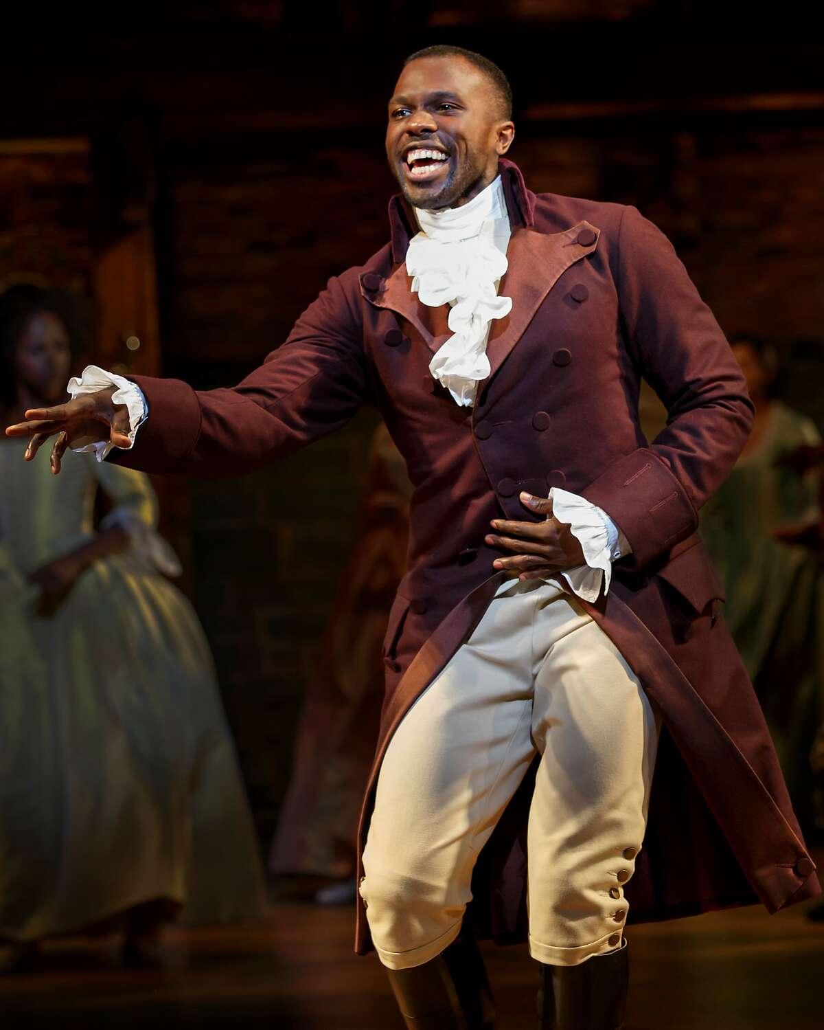 "Joshua Henry in SHN's ""Hamilton."""