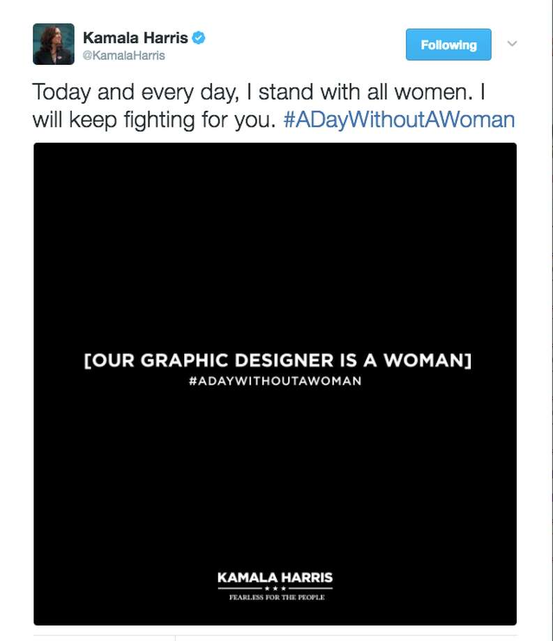 People took to social media to celebrate International Women's Day with deference and humor. Photo: Screenshot Via Twitter