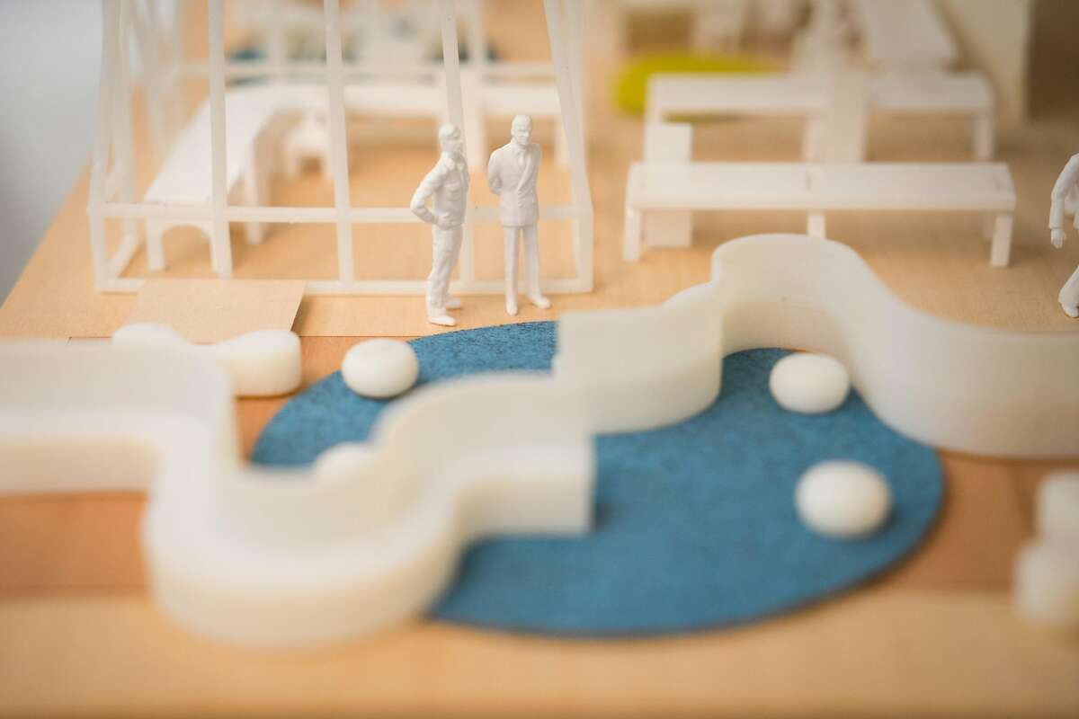 A diorama of the new Google Campus is seen in Mountain View, Calif. on Wednesday, March 8, 2017. Michelle Kaufmann and John Igoe are the masterminds behind Google's new campus.