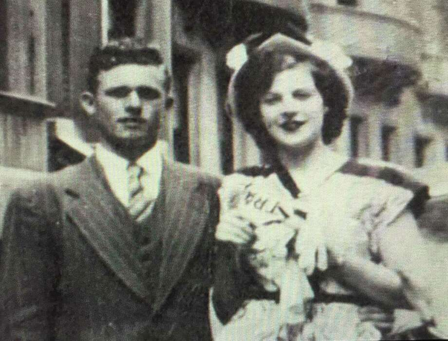 Carl and Mable (Miller) McBreairty of New Milford, above, recently celebrated their 69th wedding anniversary. They are shown above in 1948. Photo: Contributed Photo
