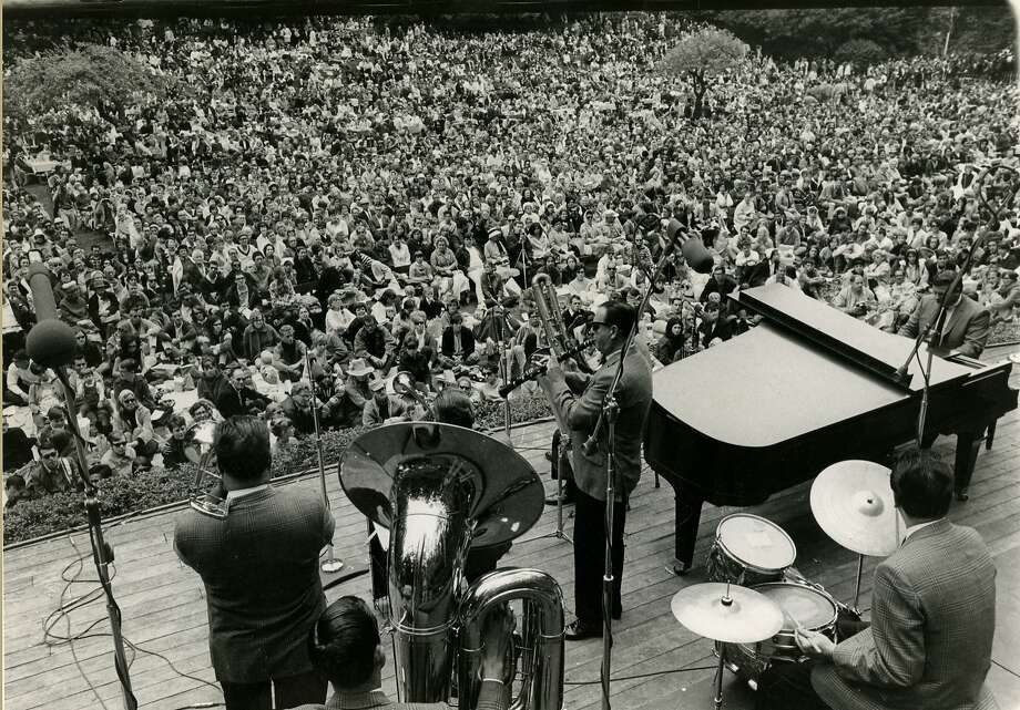 Turk Murphy Jazz Band at Stern Grove in San Francisco on Aug. 3, 1967. Photo: Christopher Springman, San Francisco Chronicle