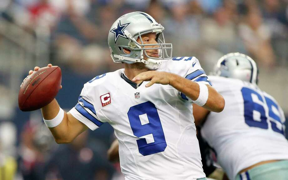 Dallas quarterback Tony Romo, who will be released by the Cowboys on Thursday, has only started four games the past two seasons because of injuries. Photo: Karen Warren, Staff / © 2014 Houston Chronicle