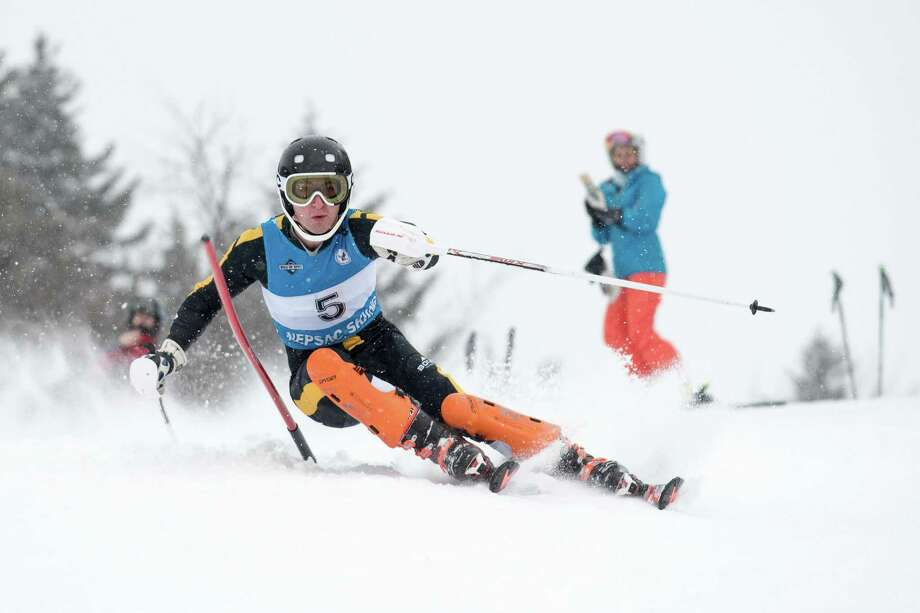 Nick Blum of Brunswick won the State Open skiing title and the Bruins placed second in the team standings in just their second season as a team. Photo: Gary W. Davis/Contributed Photo / Gary W. Davis/Contributed Photo / Greenwich Time Contributed
