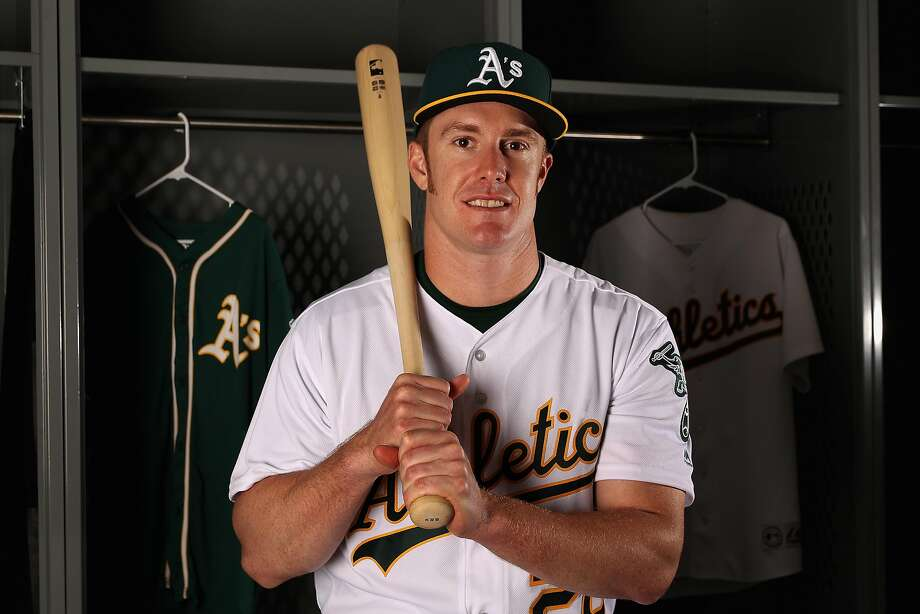 MESA, AZ - FEBRUARY 22:  Mark Canha #20 of the Oakland Athletics poses for a portrait during photo day at HoHoKam Stadium on February 22, 2017 in Mesa, Arizona.  (Photo by Christian Petersen/Getty Images) Photo: Christian Petersen, Getty Images