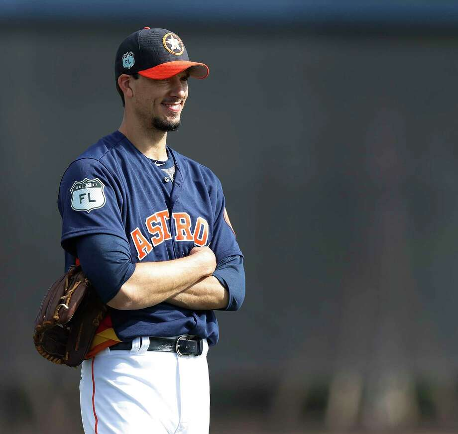 Astros newcomer Charlie Morton's fastball had some giddy-up to it during  recent Grapefruit League action in Florida. Photo: Karen Warren, Staff Photographer / 2017 Houston Chronicle