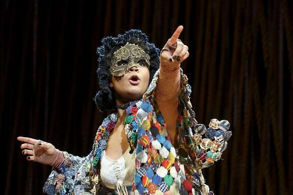 """Stephanie Umoh plays the Witch in the touring production of the Stephen Sondheim/James Lapine musical """"Into the Woods,"""" at the Golden Gate Theater through April 2"""