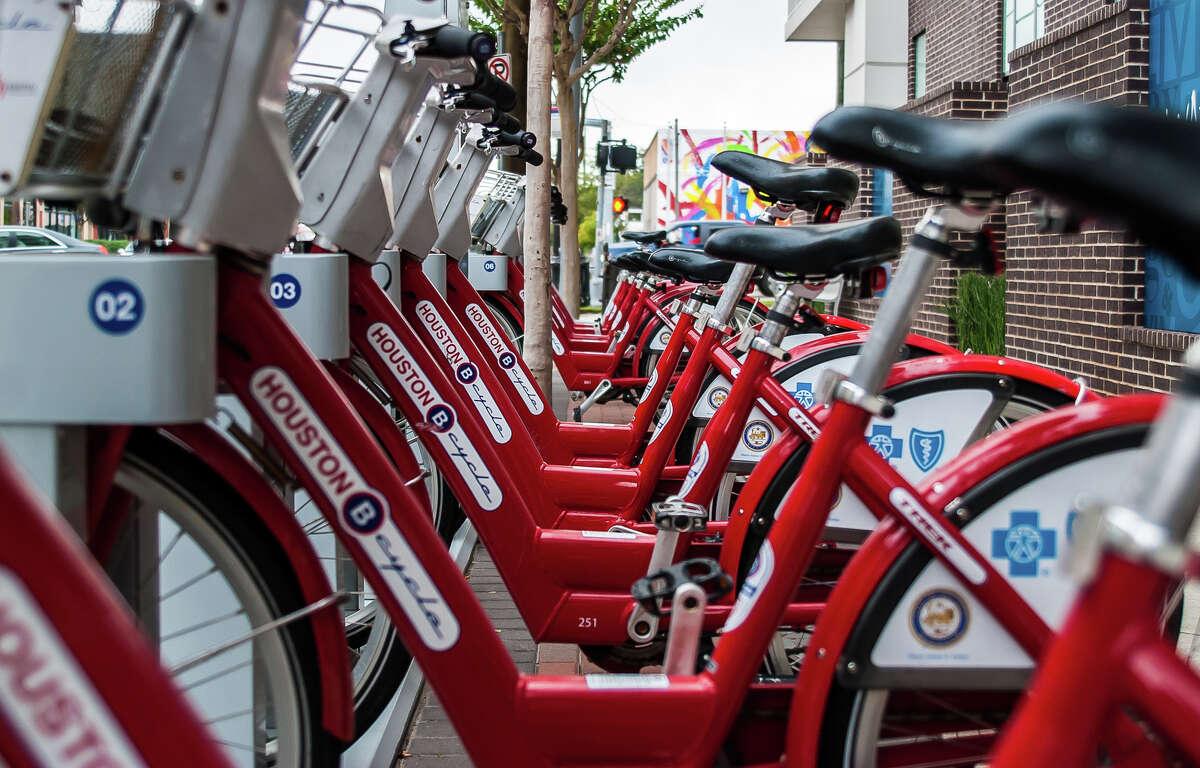 Houston B-Cycle bikes (Chronicle File Photo)