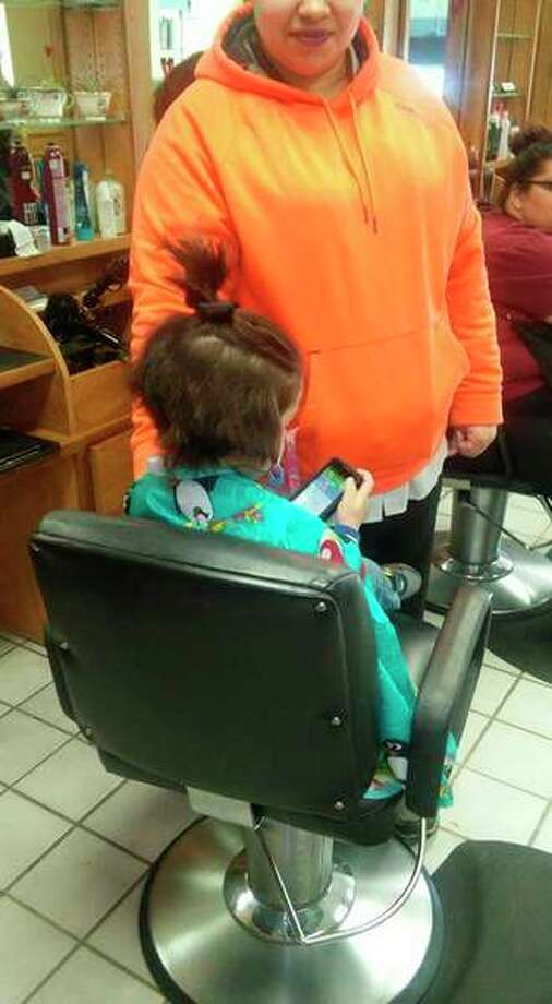 On Feb. 14, 3-year-old Odin Valentine, of Sanford, donated his hair to Wigs4kids.