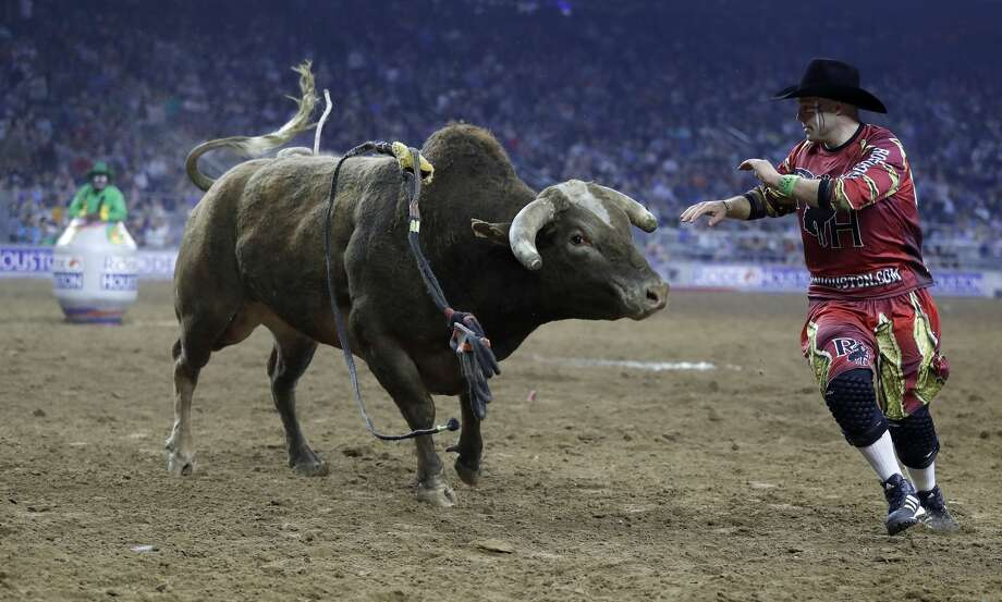 """It's kind of like playing with fire. You do it long enough you'll get burned,"" Dusty Tuckness says of bullfighting. Photo: Karen Warren/Houston Chronicle"