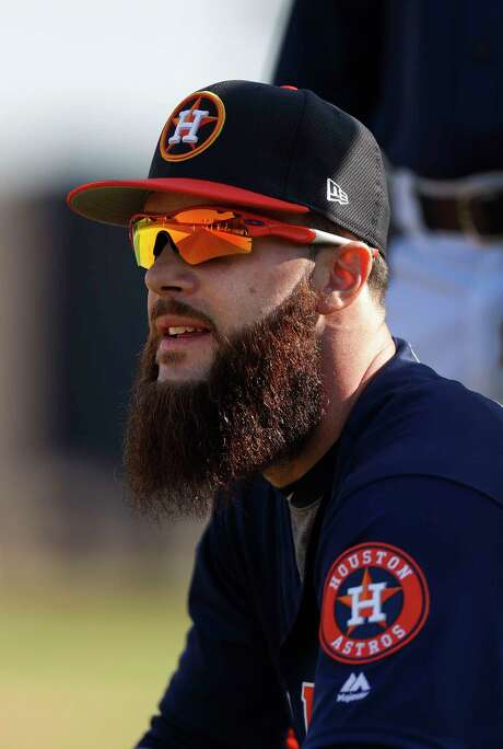 Houston Astros starting pitcher Dallas Keuchel during spring training at The Ballpark of the Palm Beaches, in West Palm Beach, Florida, Friday, February 17, 2017. ( Karen Warren / Houston Chronicle ) Photo: Karen Warren, Staff Photographer / 2017 Houston Chronicle