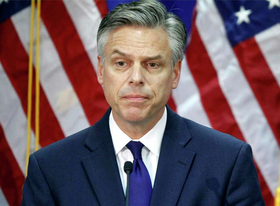 FILE - In this Jan. 16, 2012, file photo, former Utah Gov. Jon Huntsman, announces he is ending his campaign for president in Myrtle Beach, S.C. A White House official says Huntsman is President Donald Trump's choice to be the next U.S. ambassador to Russia. Huntsman will take the diplomatic post as senior members of Trump's administration face questions about their contact with the Russian government. (AP Photo/Charles Dharapak, File) Photo: Charles Dharapak, STF / Copyright 2017 The Associated Press. All rights reserved.