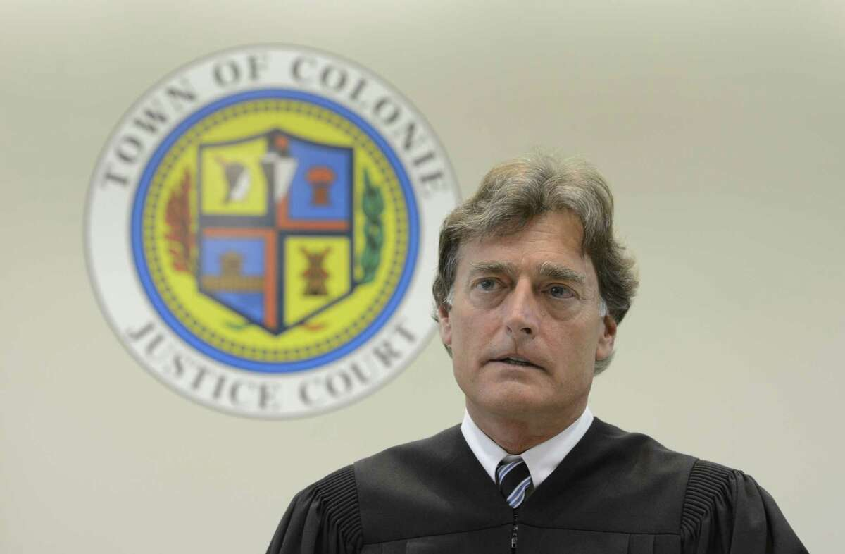 Town of Colonie Judge Peter Crummey on June 11, 2012, at the Public Safety Center in Colonie, N.Y. (Skip Dickstein / Times Union archive)