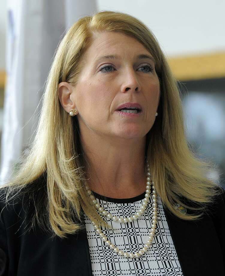 Darien First Selectman Jayme Stevenson at the Government Center in Stamford, Conn. on Wednesday, Aug. 31, 2016. Photo: Cathy Zuraw / Hearst Connecticut Media / Stamford Advocate