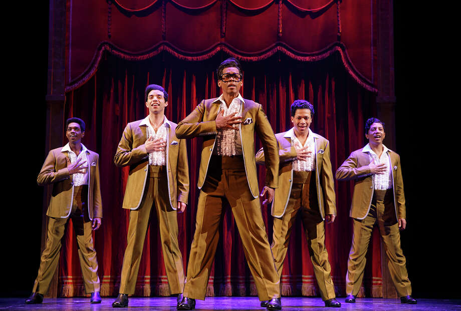"""Performers in """"Motown the Musical"""" include re-enactors of The Temptations. Photo: Joan Marcus / ©2017 Joan Marcus"""