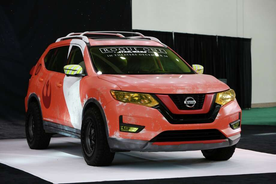 "When the movie ""Rogue One"" opened, Nissan trimmed up a 2017 Rogue, mainly with logos, badges, decals, and black paint, cut a deal with the movie producers and introduced the Star Wars Rogue One Limited Edition. Photo: Nissan / © 2016 Nissan"