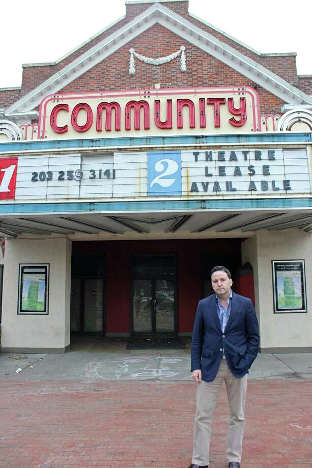 Keith Rhodes, a member of the Economic Development Commission, has started an online petition in an effort to get the owner of the Community Theatre to lease or sell the property to a developer. Photo: Genevieve Reilly / Hearst Connecticut Media / Fairfield Citizen