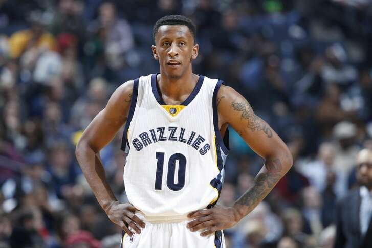 MEMPHIS, TN - DECEMBER 14: Troy Williams #10 of the Memphis Grizzlies looks on against the Cleveland Cavaliers during the game at FedExForum on December 14, 2016 in Memphis, Tennessee. Memphis defeated Cleveland 93-85. NOTE TO USER: User expressly acknowledges and agrees that, by downloading and or using the photograph, User is consenting to the terms and conditions of the Getty Images License Agreement. (Photo by Joe Robbins/Getty Images)
