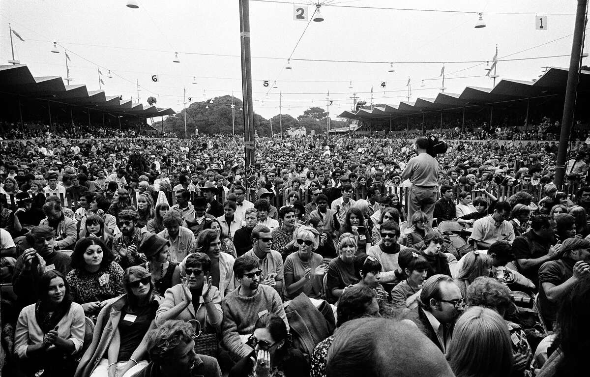 Crowds at the Monterey Pop Festival, 1967