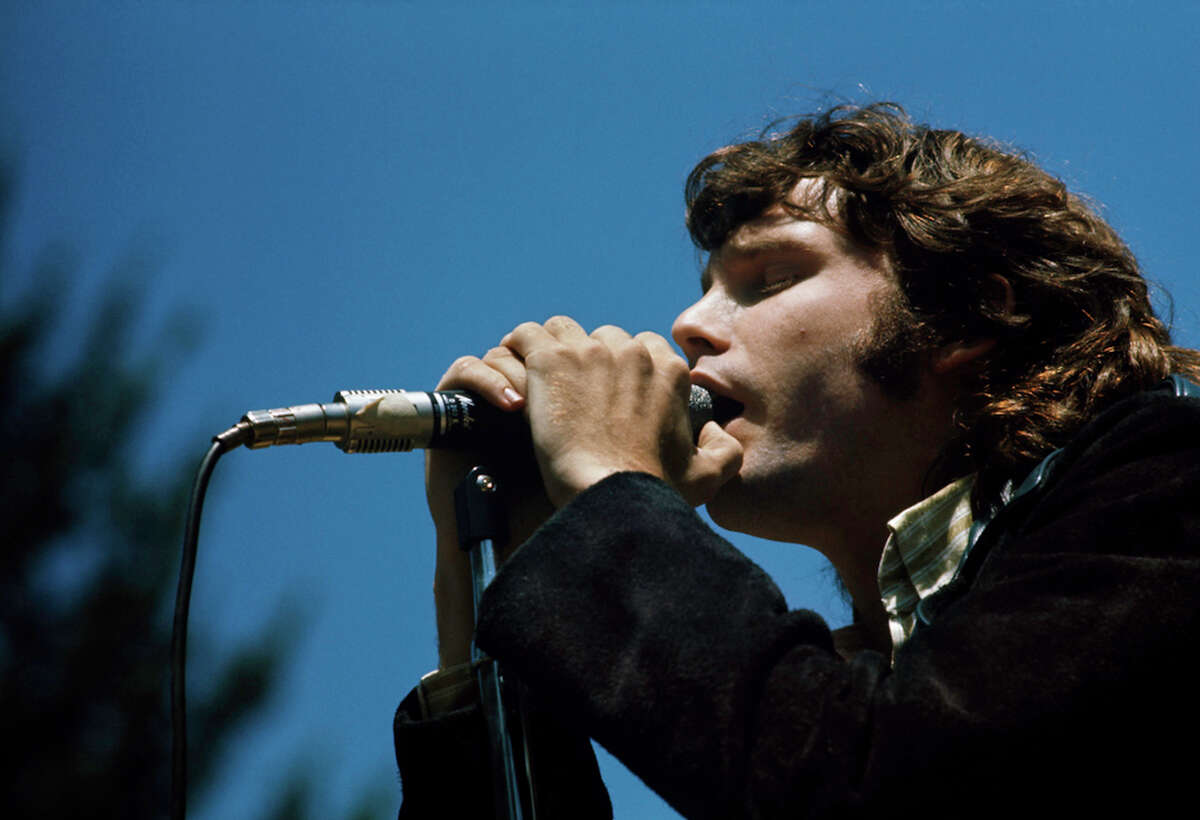 Jim Morrison performs at the Magic Mountain Music Festival on Mt. Tam,1967