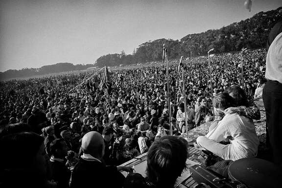 The Human Be-In at the Polo Fields in Golden Gate Park in 1967.